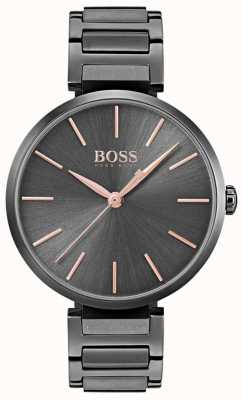 Boss Womens Allusion Watch Black Iron Plated Steel 1502416