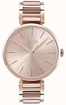 Hugo Boss Womens Allusion Watch Rose Gold Tone 1502418