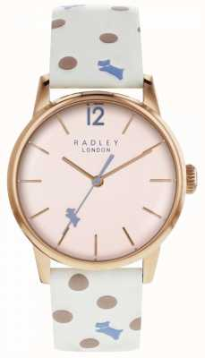Radley Womens Vintage Dog Dot Watch Pink Dial RY2566