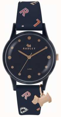 Radley Womens Letters Watch Navy Silicone RY2600