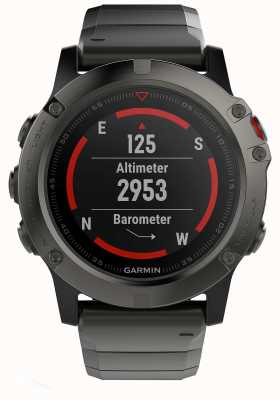 Garmin Fenix 5X Slate Grey Sapphire Metal (incl black sports strap) 010-01733-03