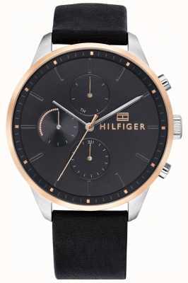 Tommy Hilfiger Men's Chase Chronograph Leather Bracelet 1791488