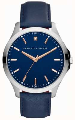 Armani Exchange Mens Hampton Leather Strap AX2406