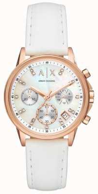 Armani Exchange Womens Lady Banks Leather Strap AX4364