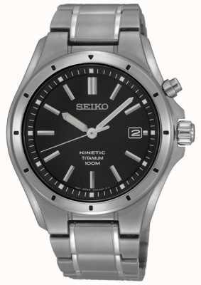 Seiko Men's Titanium Black Dial Date Display SKA763P1