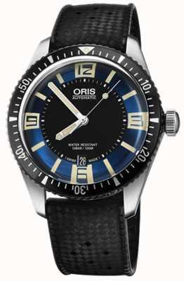 Oris Divers Sixty-five Automatic Rubber Strap Blue Dial 01 733 7707 4035-07 4 20 18