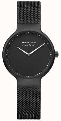 Bering Max René Black Matte Dial And Black IP Plated Mesh Strap 15531-123