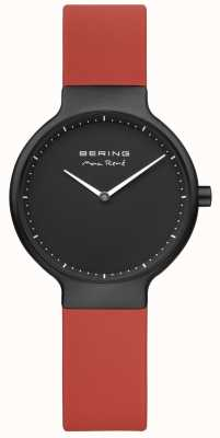 Bering Max René Red Strap Black IP Plated Case And Dial 15531-523