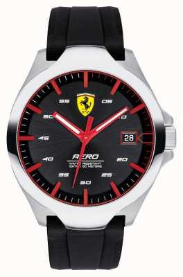 Scuderia Ferrari Men's Aero Date Display Black Dial Silicone Strap 0830506