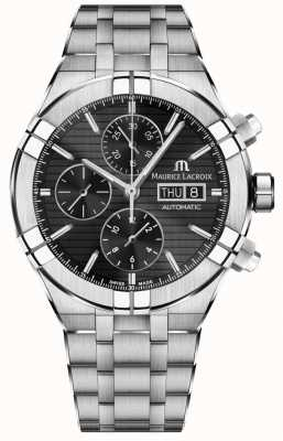 Maurice Lacroix Aikon Automatic Chronograph Stainless Steel Black Dial Watch AI6038-SS002-330-1