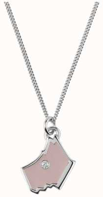 Radley Jewellery Love Radley Silver Blush Dog Head Zirconia Necklace RYJ2024