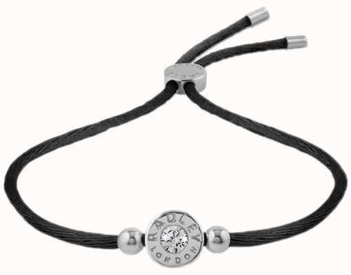 Radley Jewellery Fountain Road Silver With Logo Cord Bracelet RYJ3001