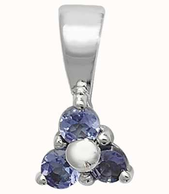 Treasure House 9k White Gold 3 Stone Tanzanite Pendant PD230WT