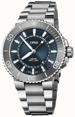 Oris Source Of Life Men's Aquis Limited Edition Blue Dial Metal 01 733 7730 4125-SET MB