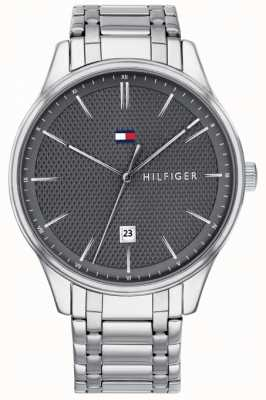 Tommy Hilfiger Mens Damon Grey Dial Stainless Steel Watch 1791490