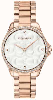 Coach Womens Modern Sport Watch In Rose Gold 14503072