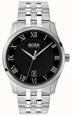 Hugo Boss Mens Master Stainless Steel Black Dial Watch 1513588