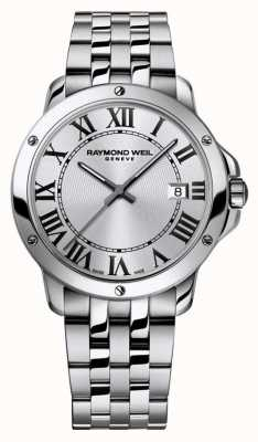 Raymond Weil Mens Tango Stainless Steel Bracelet Silver Dial 5591-ST-00659