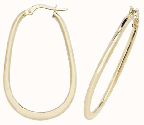 Treasure House 9k Yellow Gold Hoop Earrings ER1048