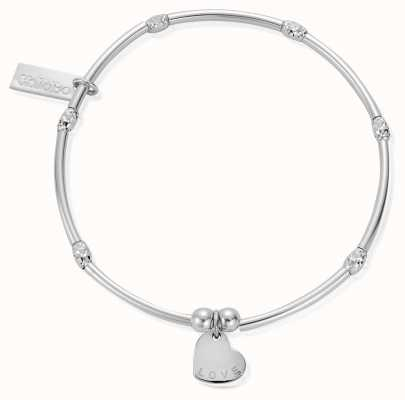 ChloBo Sterling Silver Mini Sparkle Rice Love Heart Bracelet SBMNSR092