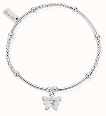 ChloBo Sterling Silver Cute Mini Butterfly Bracelet SBCM408