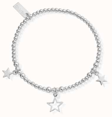 ChloBo childrens Sterling Silver Triple Star Bracelet CSBSB097806