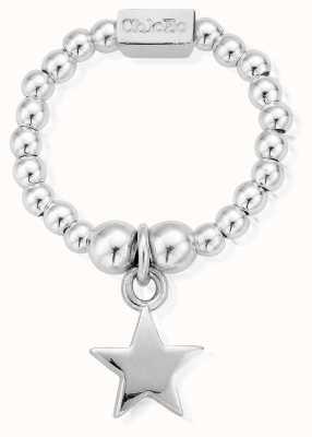 ChloBo Sterling Silver Mini Star Ring Medium SRM2806
