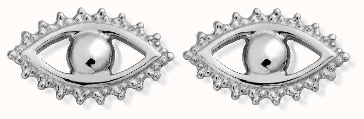 ChloBo Sterling Silver Evil Eye Stud Earrings SEST497