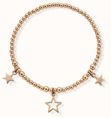 ChloBo Gold Plated Triple Star Bracelet RBSB801