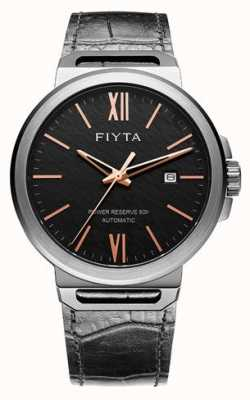 FIYTA Solo Automatic Black Leather Black Dial Sapphire GA852000.BBB