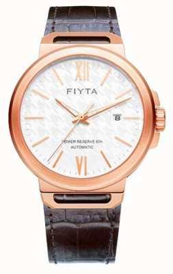 FIYTA Solo Automatic Brown Leather White Dial Sapphire GA852000.PWK