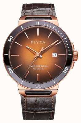 FIYTA Solo Automatic Brown Leather Brown Dial Sapphire GA852001.PKK