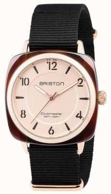 Briston Clubmaster Chic Black Strap Gold Tone Dial 18536.PRA.T.6.NB