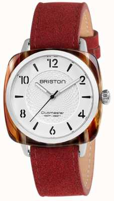 Briston Clubmaster Chic Red Strap White Dial 18536.SA.RE.2G.LNR