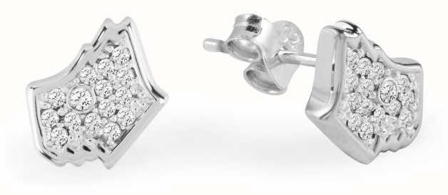Radley Jewellery Love Radley Dog Head Silver Tone With Stones Ear Studs RYJ1027