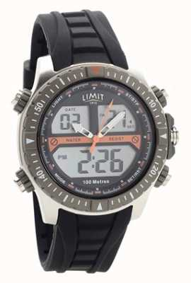 Limit Mens Black Rubber Strap Digital/Analogue Watch 5694.71
