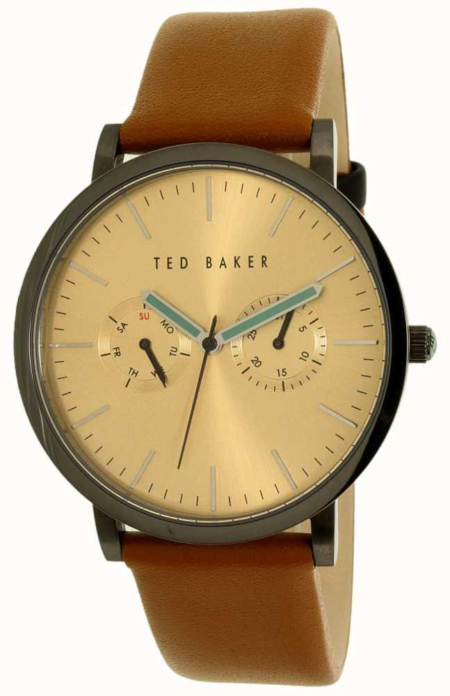 3b1b9551ec4ec3 Ted Baker Mens Tan Leather Strap Multi-function Watch 10009249 ...