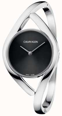 Calvin Klein Ladies' Bangle Watch Party Black Dial K8U2M111