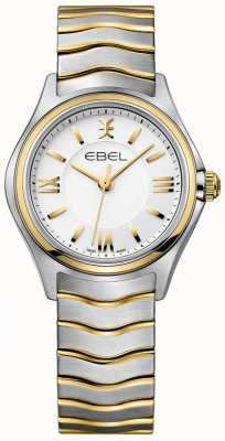 EBEL Women's Wave White Dial Two Tone Gold & Silver Bracelet 1216375