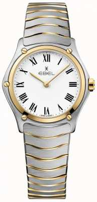 EBEL Women's Sport Classic White Dial Two Tone Bracelet Stainless 1216387