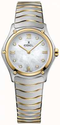 EBEL Women's Sport Classic Diamond Mother Of Pearl Dial Two Tone 1216388