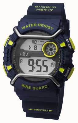 Limit Mens Sports Watch Blue Digital 5946