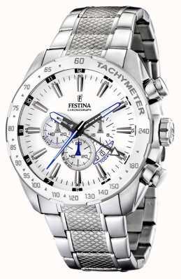 Festina Chronograph Stainless Steel Bracelet White Dial F16488/1