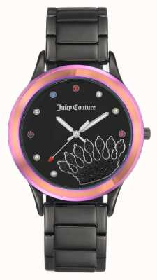 Juicy Couture Womens Black Bracelet Black Dial With Coloured Bezel JC-1053MTBK