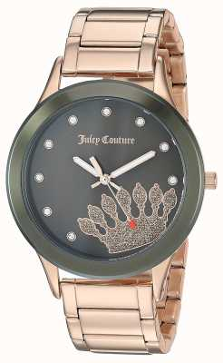 Juicy Couture (no box) Womens Rose Gold Stainless Steel | Black Dial JC-1052OLRG