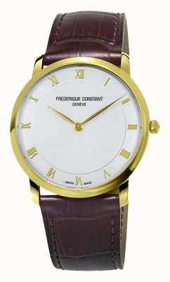 Frederique Constant Mens Quartz Slimline Gold Plated Case FC-200RS5S35