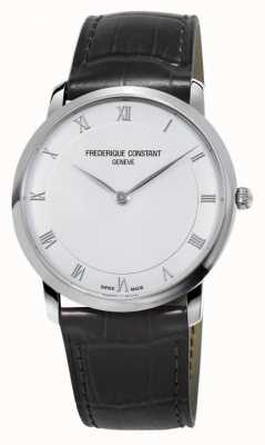 Frederique Constant Men's Quartz Slimline Black Leather Strap FC-200RS5S36