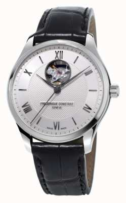 Frederique Constant Men's Classic Open Heart Black Leather Strap FC-310MS5B6