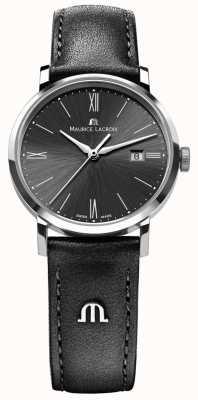 Maurice Lacroix Womens Eliros Black Leather Strap Black Dial EL1084-SS001-310-1