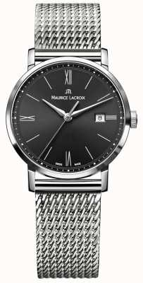 Maurice Lacroix Womens Eliros Milanais Stainless Steel Strap Black Dial EL1084-SS002-313-1